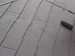 外壁塗装屋根上塗り